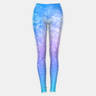 Miniatur Cosmic rainbow sky ( digital watercolor ) Leggings, Live Heroes