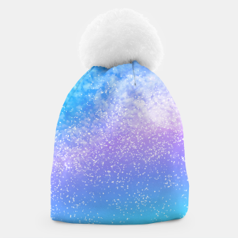 Miniatur Cosmic rainbow sky ( digital watercolor ) Beanie, Live Heroes