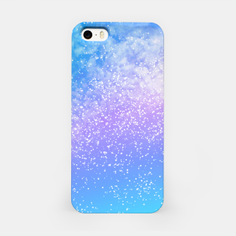 Miniatur Cosmic rainbow sky ( digital watercolor ) iPhone Case, Live Heroes