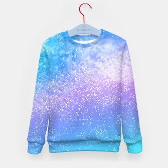 Thumbnail image of Cosmic rainbow sky ( digital watercolor ) Kid's sweater, Live Heroes