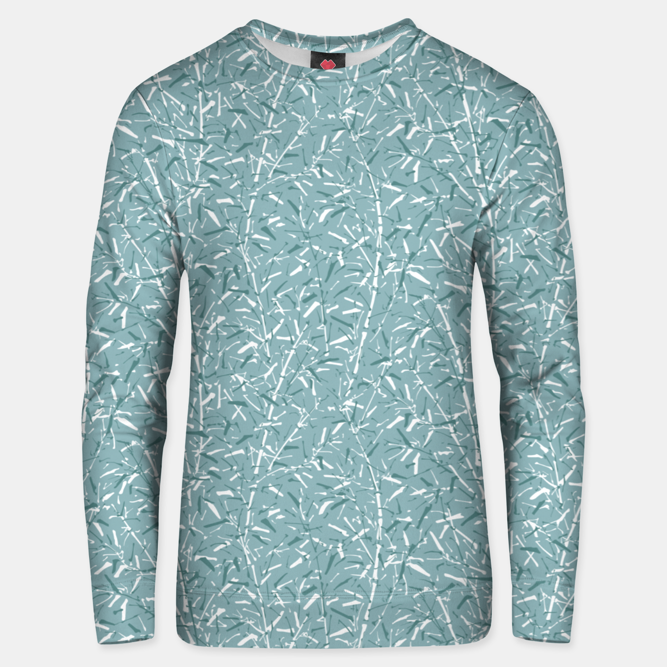 Foto Bamboo Forest in Teal Blue Unisex sweater - Live Heroes