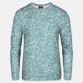 Bamboo Forest in Teal Blue Unisex sweater Bild der Miniatur