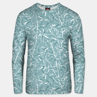 Thumbnail image of Bamboo Forest in Teal Blue Unisex sweater, Live Heroes
