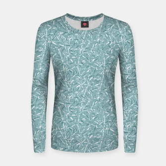 Bamboo Forest in Teal Blue Women sweater Bild der Miniatur