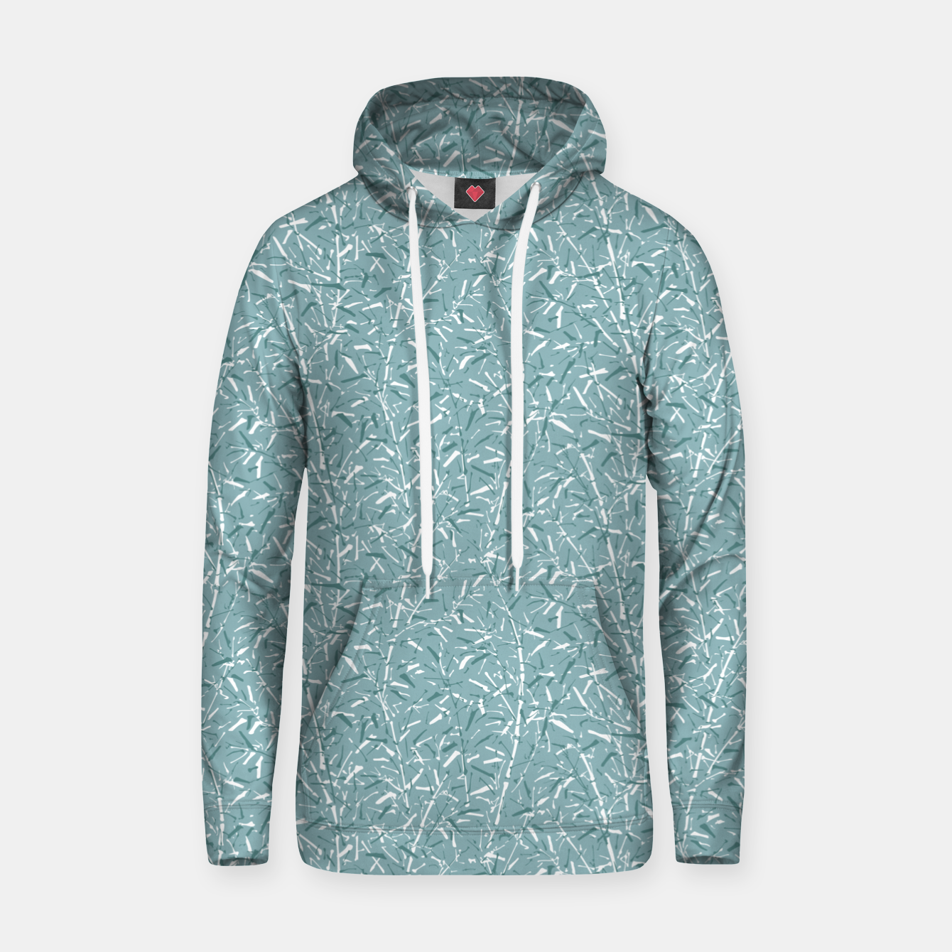 Foto Bamboo Forest in Teal Blue Hoodie - Live Heroes