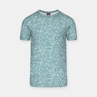 Bamboo Forest in Teal Blue T-shirt Bild der Miniatur