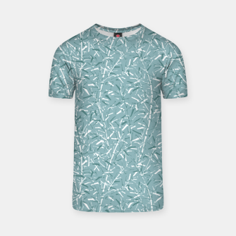 Miniatur Bamboo Forest in Teal Blue T-shirt, Live Heroes