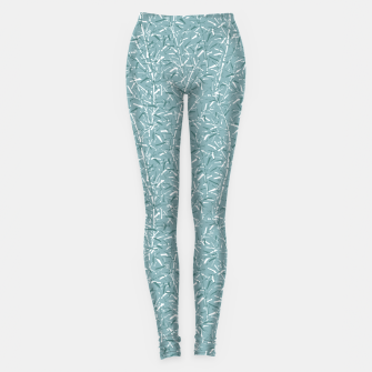 Bamboo Forest in Teal Blue Leggings Bild der Miniatur