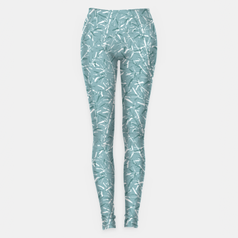Thumbnail image of Bamboo Forest in Teal Blue Leggings, Live Heroes