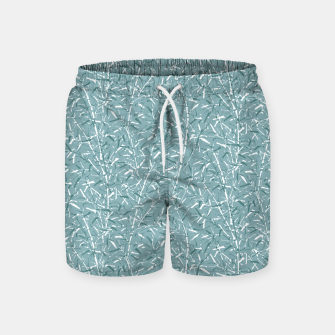 Bamboo Forest in Teal Blue Swim Shorts Bild der Miniatur