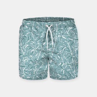 Miniatur Bamboo Forest in Teal Blue Swim Shorts, Live Heroes