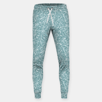 Bamboo Forest in Teal Blue Sweatpants Bild der Miniatur
