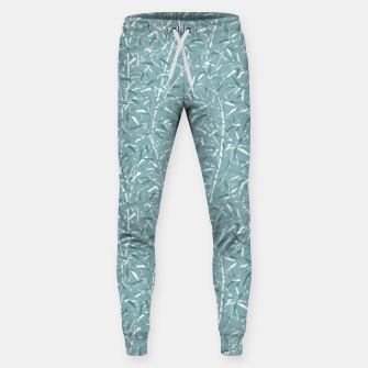 Miniature de image de Bamboo Forest in Teal Blue Sweatpants, Live Heroes
