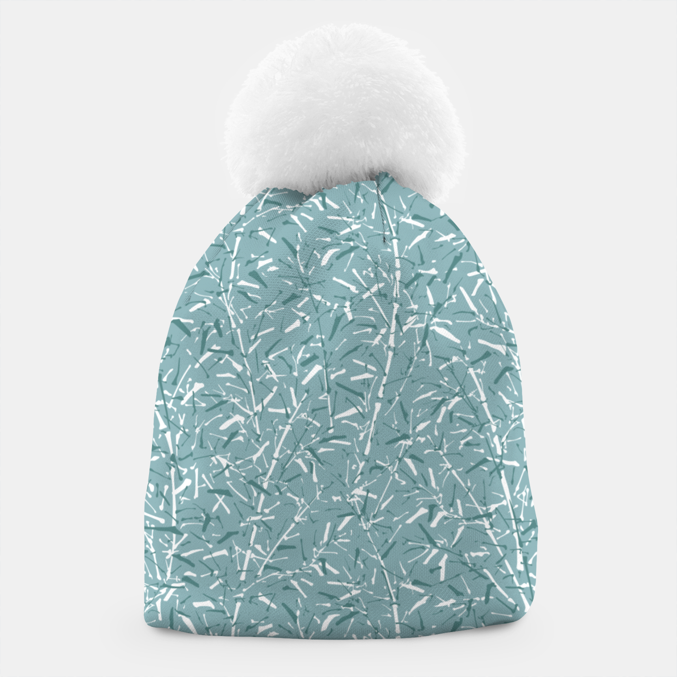 Foto Bamboo Forest in Teal Blue Beanie - Live Heroes