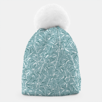 Thumbnail image of Bamboo Forest in Teal Blue Beanie, Live Heroes