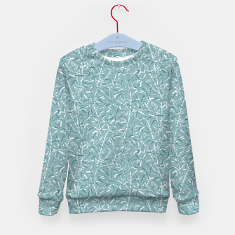Bamboo Forest in Teal Blue Kid's sweater Bild der Miniatur