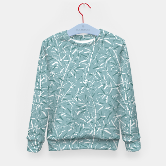 Thumbnail image of Bamboo Forest in Teal Blue Kid's sweater, Live Heroes