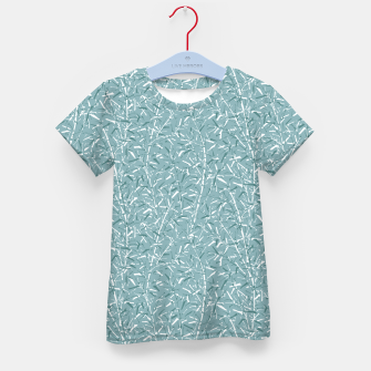 Bamboo Forest in Teal Blue Kid's t-shirt Bild der Miniatur