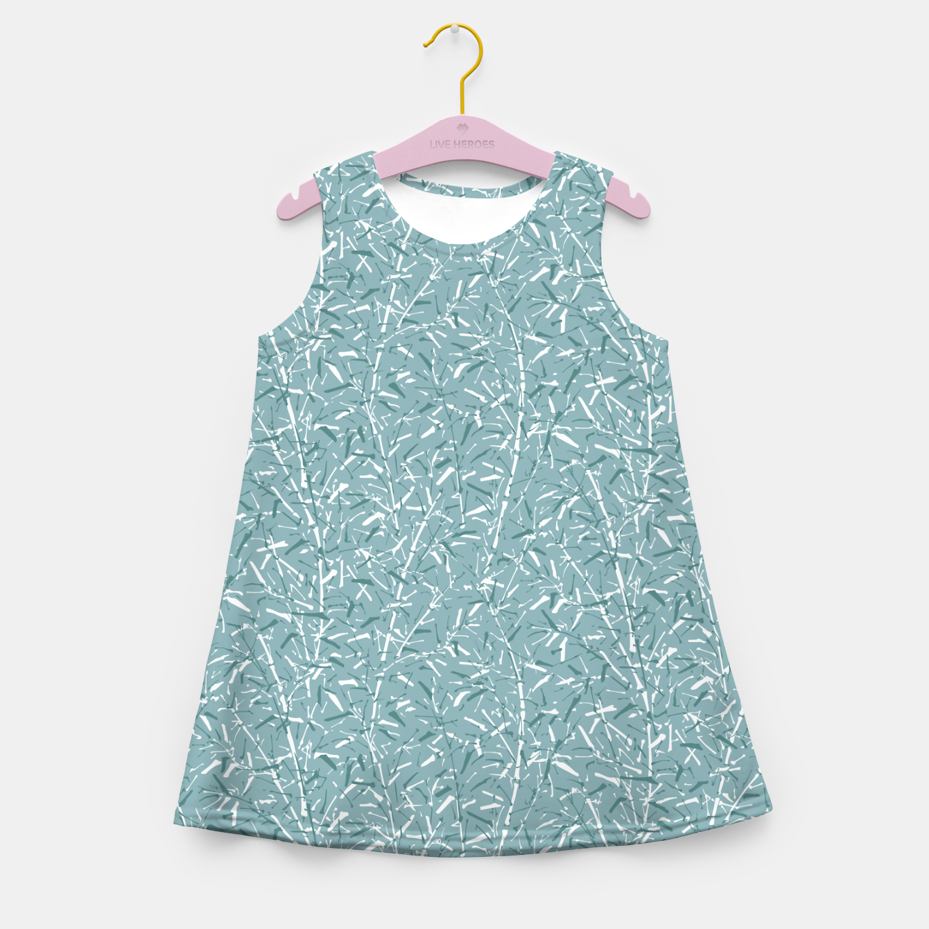 Foto Bamboo Forest in Teal Blue Girl's summer dress - Live Heroes