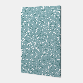 Bamboo Forest in Teal Blue Canvas Bild der Miniatur