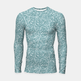 Thumbnail image of Bamboo Forest in Teal Blue Longsleeve rashguard , Live Heroes