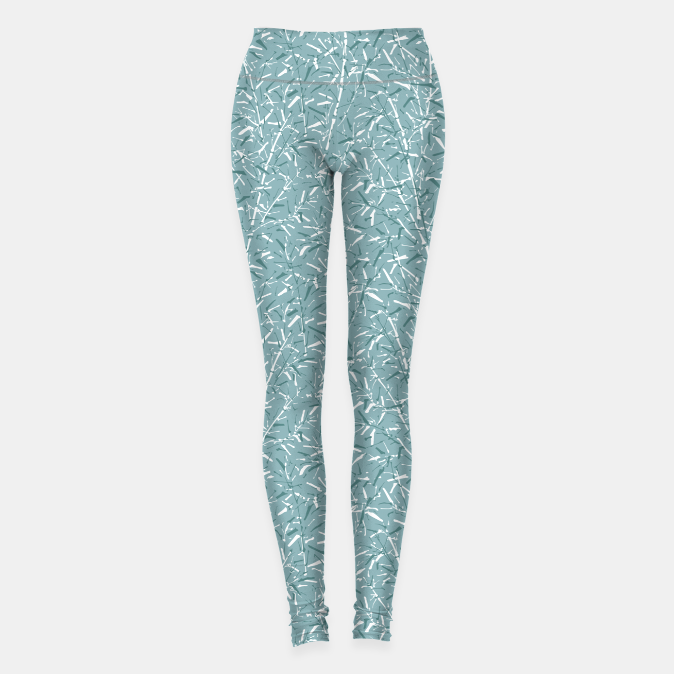 Foto Bamboo Forest in Teal Blue Leggings - Live Heroes