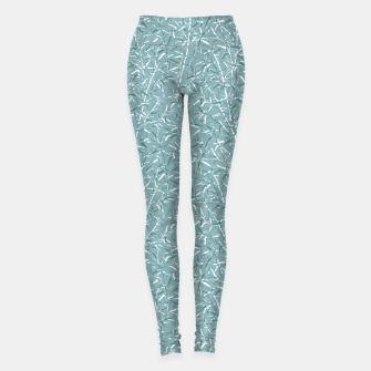 Imagen en miniatura de Bamboo Forest in Teal Blue Leggings, Live Heroes