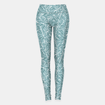 Miniatur Bamboo Forest in Teal Blue Leggings, Live Heroes