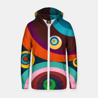 Thumbnail image of circles Zip up hoodie, Live Heroes
