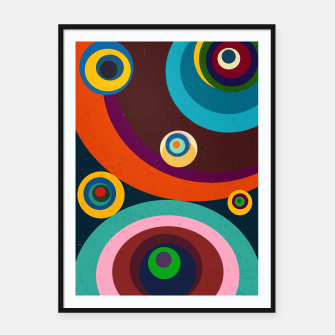 Thumbnail image of circles Framed poster, Live Heroes