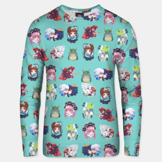 Thumbnail image of Ghibili Teal Sweater, Live Heroes