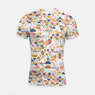 Thumbnail image of Colorful geometric 98 Shortsleeve rashguard, Live Heroes