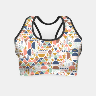 Thumbnail image of Colorful geometric 98 Crop Top, Live Heroes