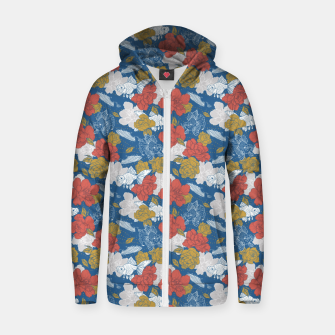 Thumbnail image of Flowers in the sea Sudadera con capucha y cremallera , Live Heroes