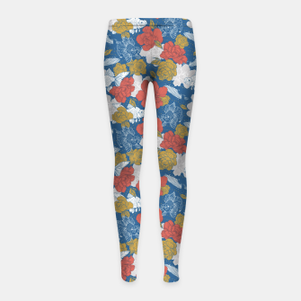 Miniature de image de Flowers in the sea Leggings para niña, Live Heroes