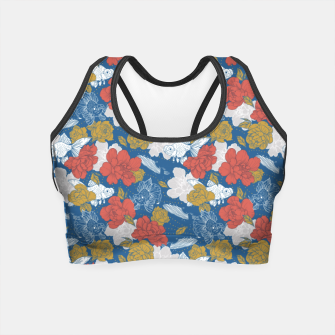 Thumbnail image of Flowers in the sea Crop Top, Live Heroes