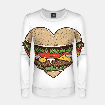 Thumbnail image of Hamburger Lover Women sweater, Live Heroes