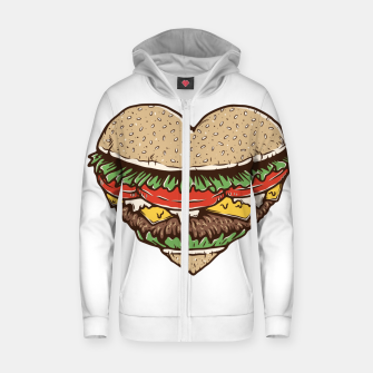 Hamburger Lover Zip up hoodie imagen en miniatura