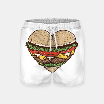Miniature de image de Hamburger Lover Swim Shorts, Live Heroes