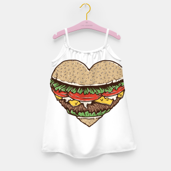 Hamburger Lover Girl's dress imagen en miniatura