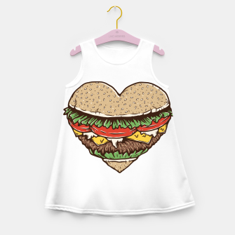 Hamburger Lover Girl's summer dress imagen en miniatura