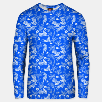 Animals in the jungle blue Sudadera unisex miniature