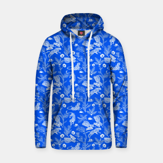 Animals in the jungle blue Sudadera con capucha Bild der Miniatur