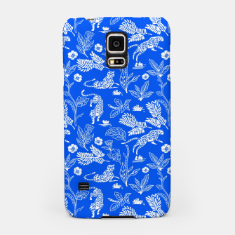 Animals in the jungle blue Carcasa por Samsung miniature