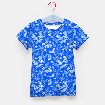 Miniature de image de Animals in the jungle blue Camiseta para niños, Live Heroes