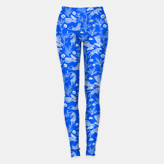 Thumbnail image of Animals in the jungle blue Leggings, Live Heroes