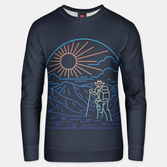 Thumbnail image of Hiker Line Unisex sweater, Live Heroes