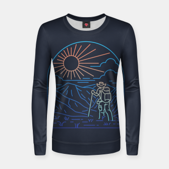 Thumbnail image of Hiker Line Women sweater, Live Heroes