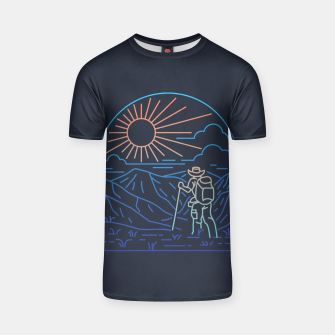 Thumbnail image of Hiker Line T-shirt, Live Heroes