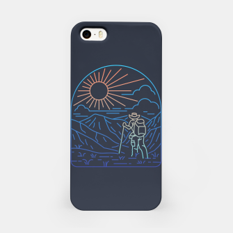 Thumbnail image of Hiker Line iPhone Case, Live Heroes